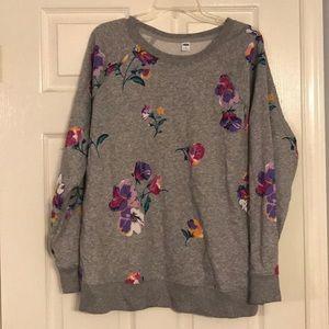 Old Navy XL floral sweatshirt